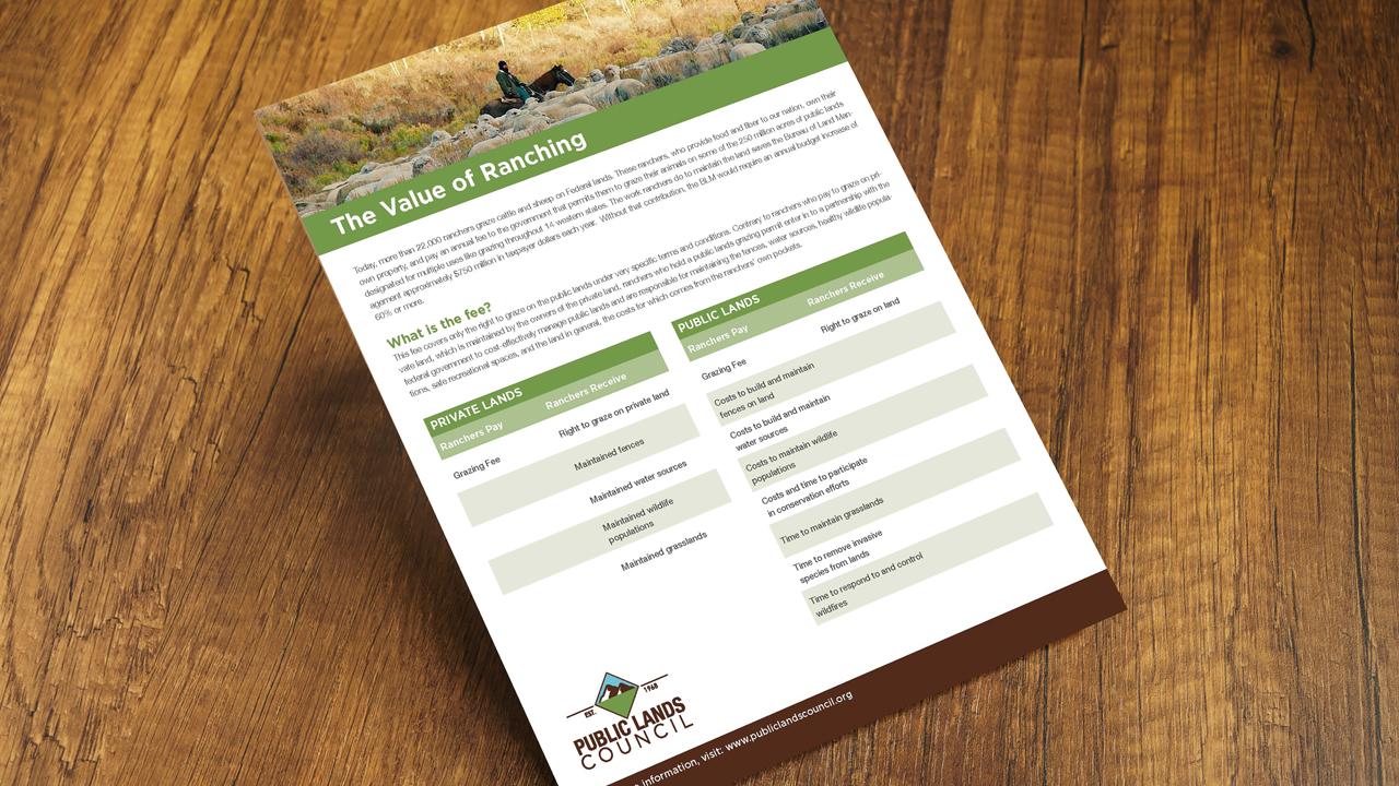 Public Lands Council One Sheet